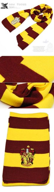 Free shipping by ems Fashion Harry Potter Scarf Bandelet Neckerchief with badge Same As Harry Potter