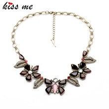 Kiss me завод оптовой 2017 женщин платье ювелирные изделия смола бабочка цветы воротник ожерелье
