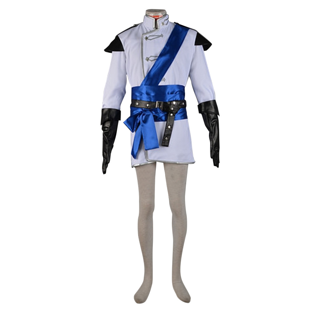 Dragon Age:Inquisition Halamshiral Ball White Uniform Cosplay Costume Men's Halloween Carnival Movie Party Costume Outfit