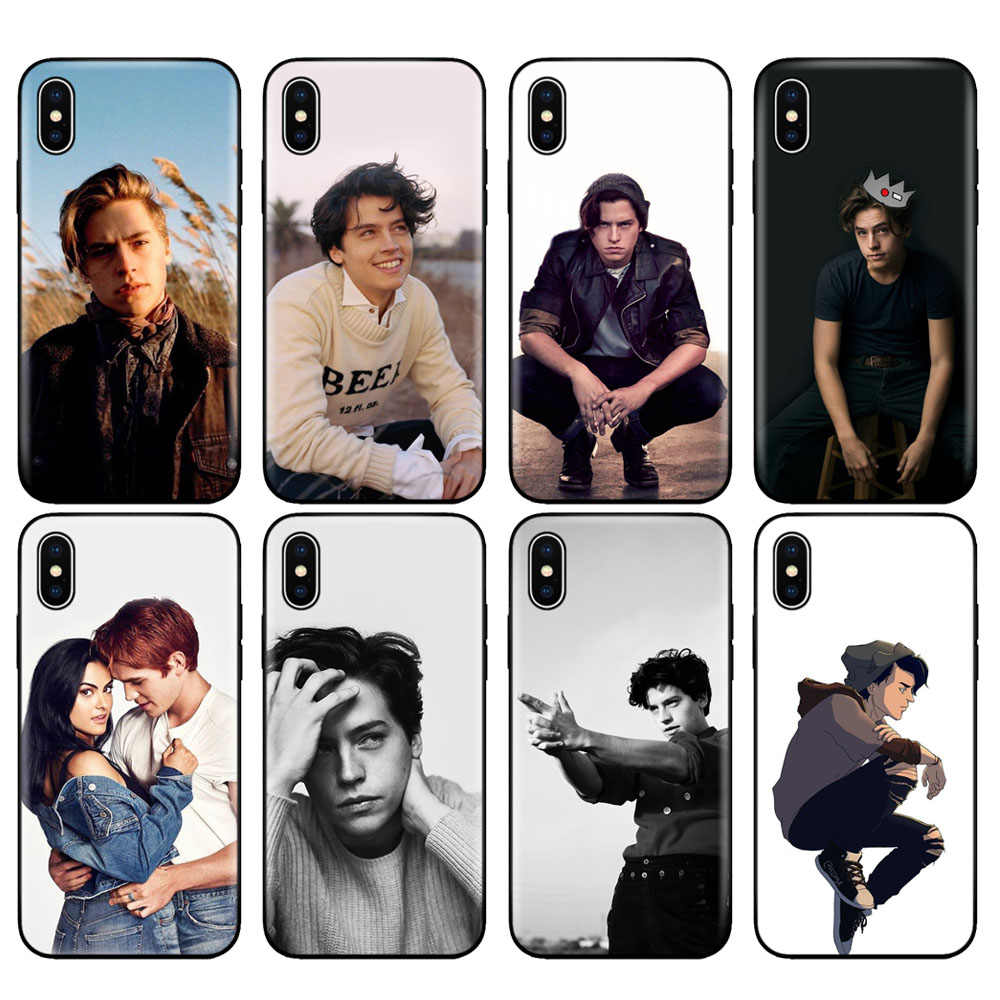 Black tpu case for iphone 5 5s se 6 6s 7 8 plus x 10 case silicone cover for iphone XR XS MAX case TV Riverdale Cole Sprouse