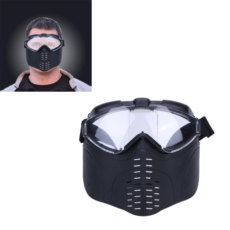 Airsoft Paintball Mask Skull Full Face Mask Army Games Outdoor Metal Mesh Eye Shield Costume Offensive and Defensive Shield