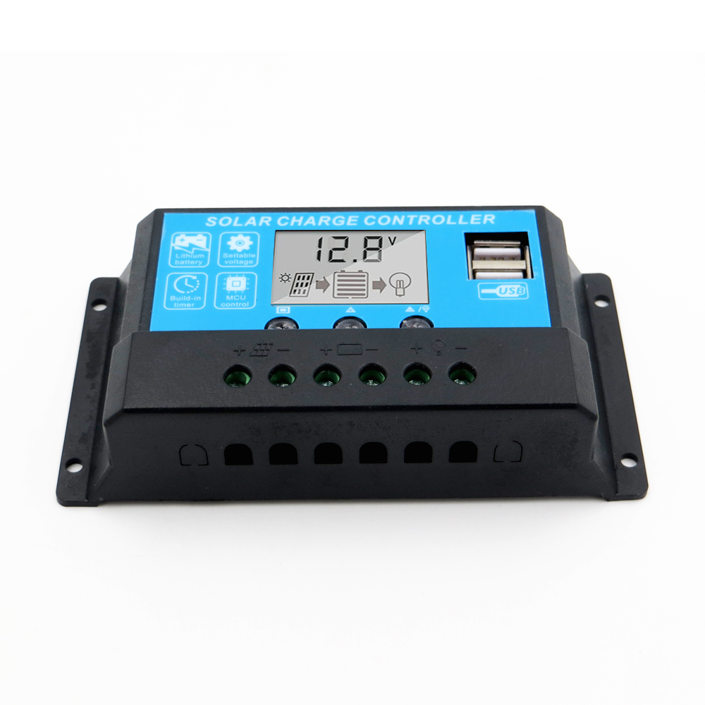 10A 20A 30A 12V/24V LCD display solar charger lead acid battery Lithium ion PWM solar charge controller USB 5V10A 20A 30A 12V/24V LCD display solar charger lead acid battery Lithium ion PWM solar charge controller USB 5V