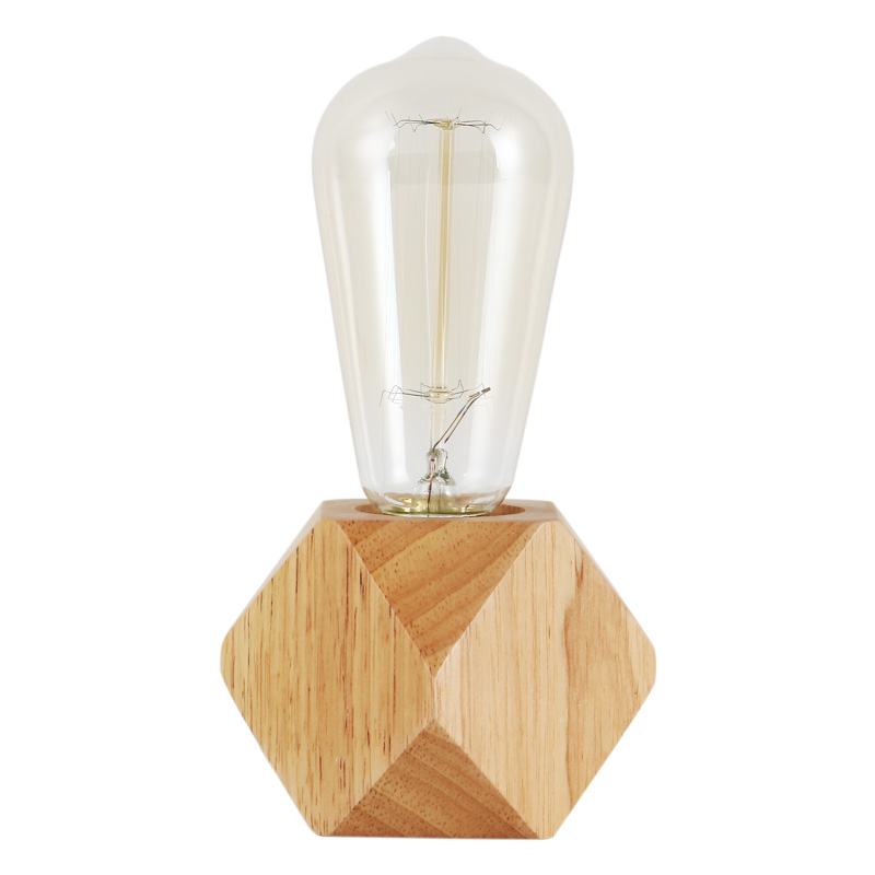 Edison Bulb Light Ideas 22 Floor Pendant Table Lamps: Vintage Industrial Log Wood Table Light Edison Desk Lamp