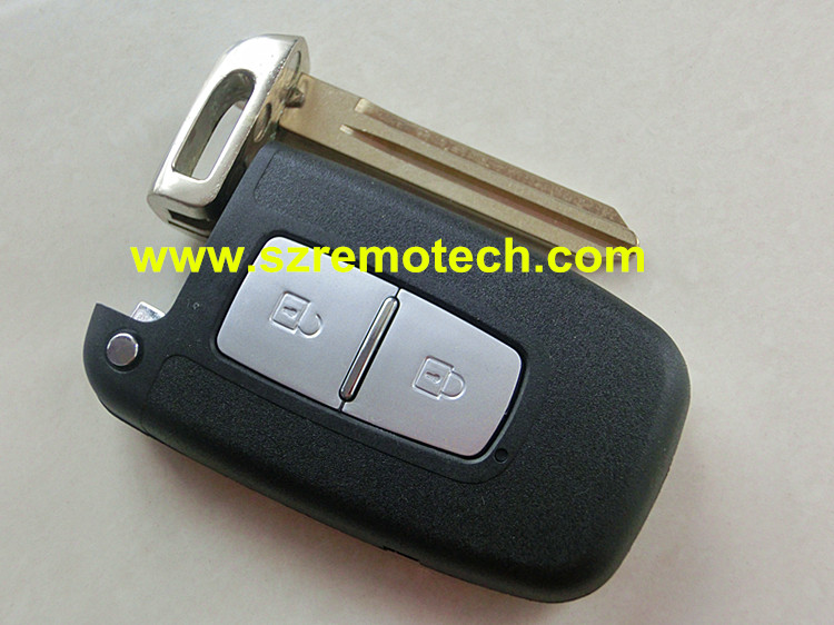 Free Shipping Quality New Keyless Entry Fob Cover 2 Buttons Remote Key Smart Card Shell Case+Left blade Fit For Hyundai