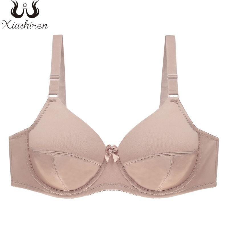 Xiushiren Plus Größe Sexy Solide Ungefüttert Bh Ultra Dünne Grundlegende Bügel Bhs Für Frauen Volle Tasse Atmungs Glatte Weiche Unterwäsche