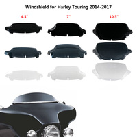 "4.5 ""7"" 10.5 ""Wave Voorruit Bovenste Kuip Voorruit Voor Harley Touring Straat Electra Glide Ultra Limited 2014 2015 2016 2017 op"