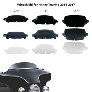 """4.5"""" 7"""" 10.5"""" Wave Windshield Upper Fairing Windscreen for Harley Touring Street Electra Glide Ultra Limited 2014 2015 2016 2017(China)"""