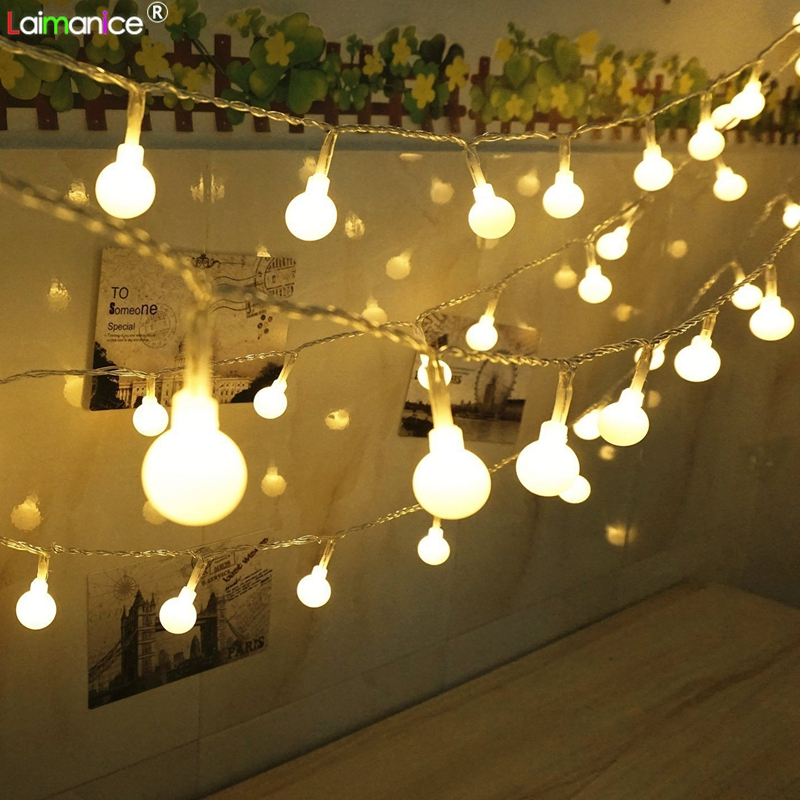 Christmas Decoration String Lights Ball Lighting Holiday Lamp Festival Light New