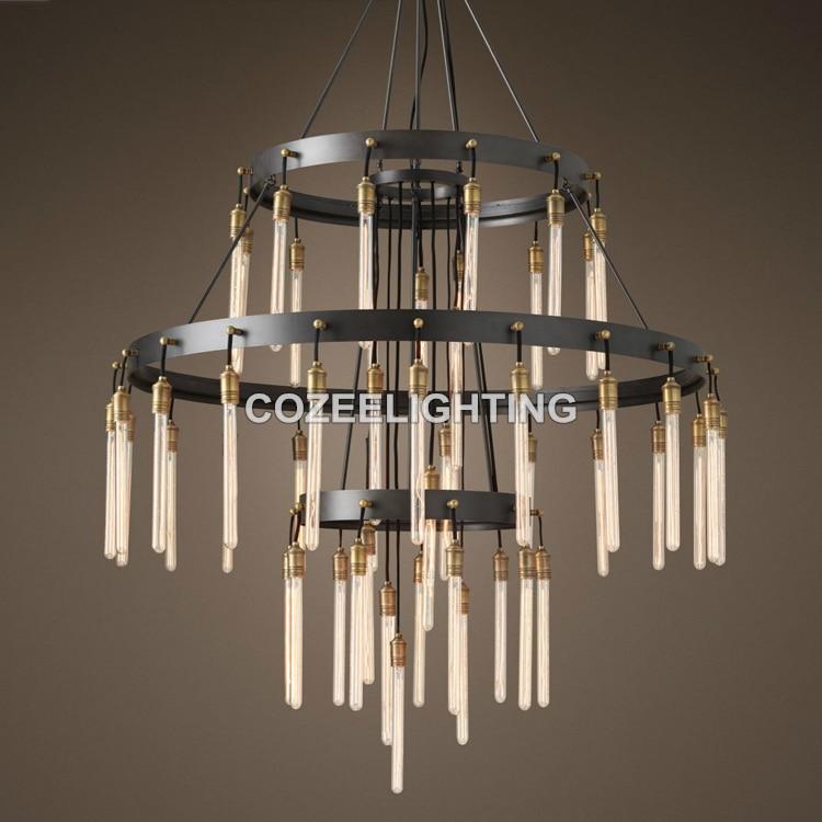Novi veliki hotelski lestenec za osvetlitev LED Edison žarnica - Notranja razsvetljava - Fotografija 1