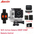 "Action Camera  AMK7000S  4K 2.0"" LCD 170 Degree Wide Angle Waterproof  WiFi Action Camera View Angle Remote Control Watch"