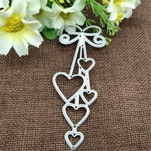 Love Heart Bow Tie Metal Cutting Dies for Card Making