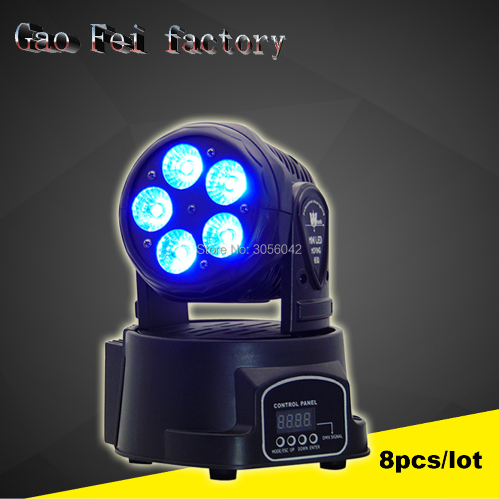 8pcs/lot Factory arrive Dj lighting full color RGBWA+UV 6in1 moving head stage light 5x15W led DMX Wash dj stage light free shipping disco stage club music dance 7x18w led mini moving head light rgbwa uv 6in1 bright lumiere dmx party dj lighting