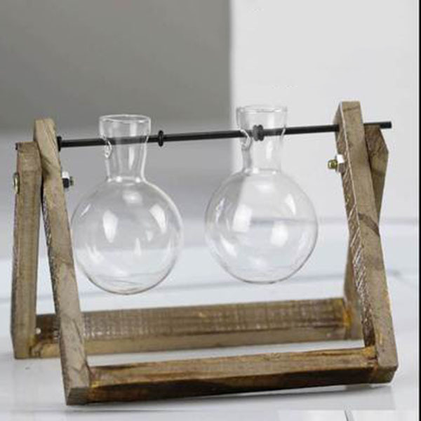 Creative vase plant glass hydroponic container farm decorative flowerpot home decorations 6