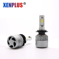 Xenplus 2Pcs Super Bright H4 Led Bulb Car Headlights 72W 8000LM LED Lights 6500K White 12V