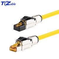 40Gbps 2000MHz Cat8 Cáp Mạng RJ45 Cổng Kết Nối Ethernet Uốn Cáp Mạng Che Chắn RJ45 Quang có Dây Cáp Dây