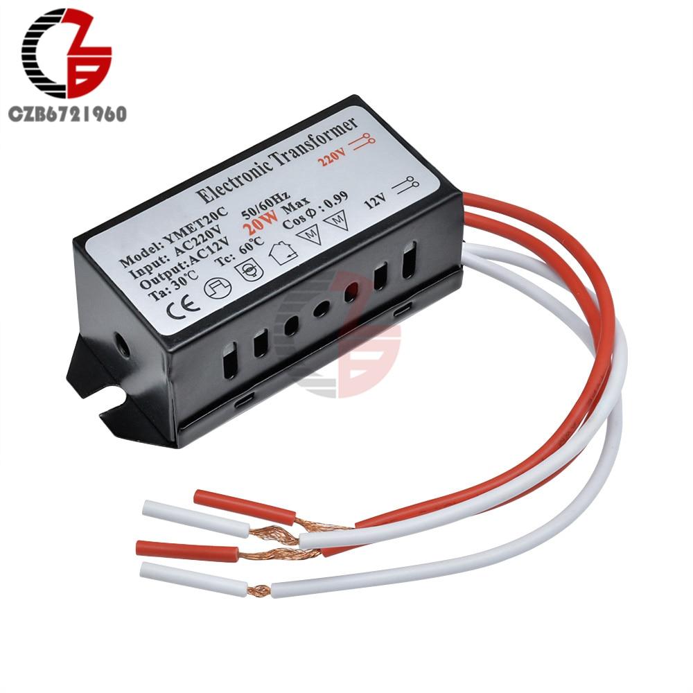 20 Вт AC 220 В до 12 В понижающий преобразователь напряжения силовой трансформатор регулятор Светодиодный драйвер для умного дома светодиодный ...