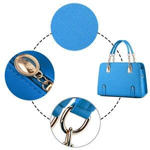 Image 5 - Wobag женские сумки на плечо, женская сумочка из искусственной кожи, сумка для женщин, роскошные сумки, дизайнерская сумка тоут, темно синяя/розовая