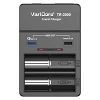 2018 VariCore TR-2000 e-cigarette charger Quick Charge 18650 26650 batteries AAA and QC3.0/USB 5V mobile devices Battery Charger