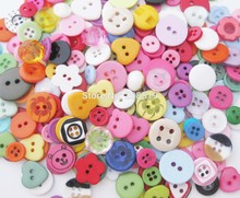 NB088 assorted resin buttons with 6 sizes 800pcs for 1 color from 11 colors fashion