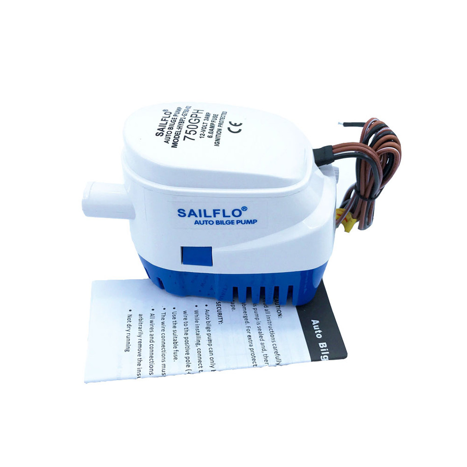Automatic Submersible Bilge Water Pump 750GPH 12V 24V With Switch Auto Electric Motor Boat Aquario Filter Accessories Aquarium все цены