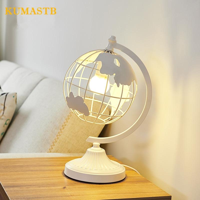 Настольная лампа Спальня исследование прикроватные настольная лампа творческий Nordic современный Глобус Форма настольные лампы для Спальня
