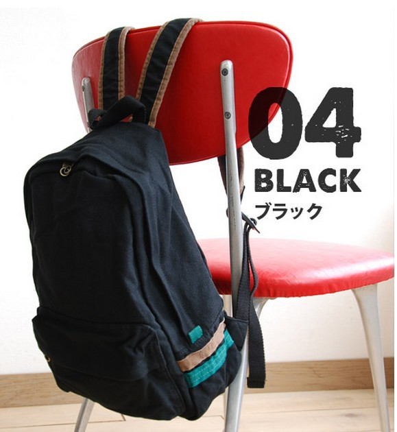 Pure cotton canvas backpack Muji wind simple pure color bag bag men and  women students 933902e61eb74