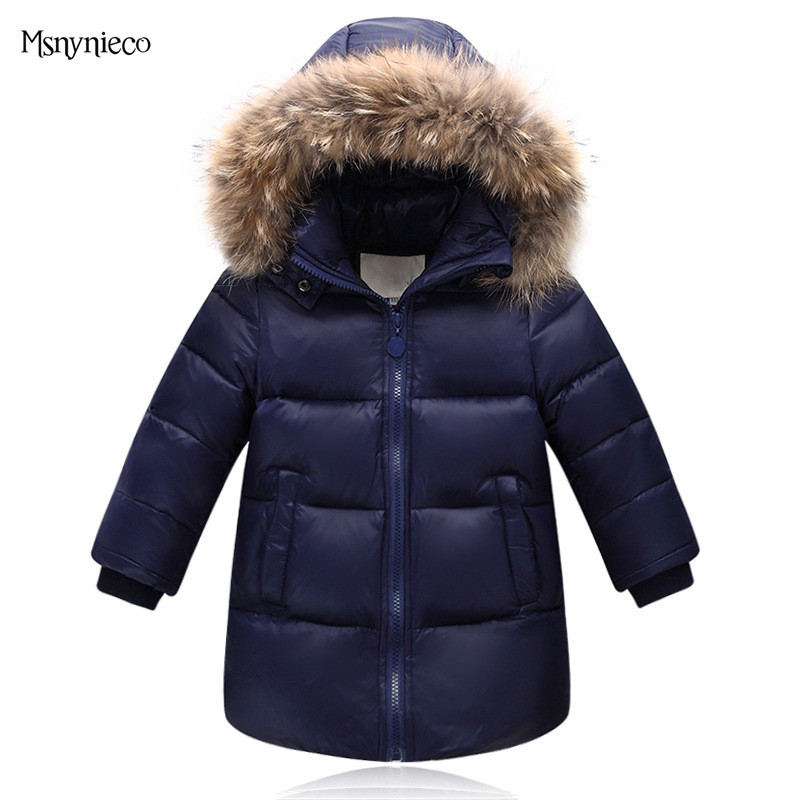 High Quality Winter Boys Coat Warm Jacket 2017 Casual Kids Down Jacket Hooded Jacket Children Outwear Boys Parka Baby Clothing
