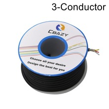 3C-bLACK-6M-UL 2547 28/26/24 AWG Multi-core control cable copper wire shielded audio cable headphone cable signal line