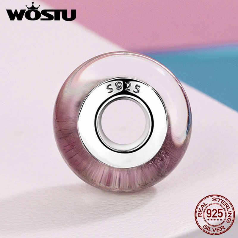 WOSTU 925 סטרלינג כסף חול זכוכית מוראנו חרוזים Fit מקורי WST קסם צמיד תכשיטי אביזרי מתנה FIZ062