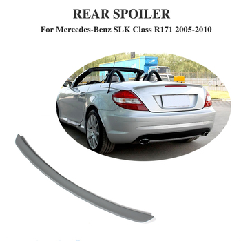 Rear Trunk Lip Spoiler Boot Wings For Mercedes-Benz Benz SLK Class R171 2005-2010 FRP Unpained Grey Car Styling
