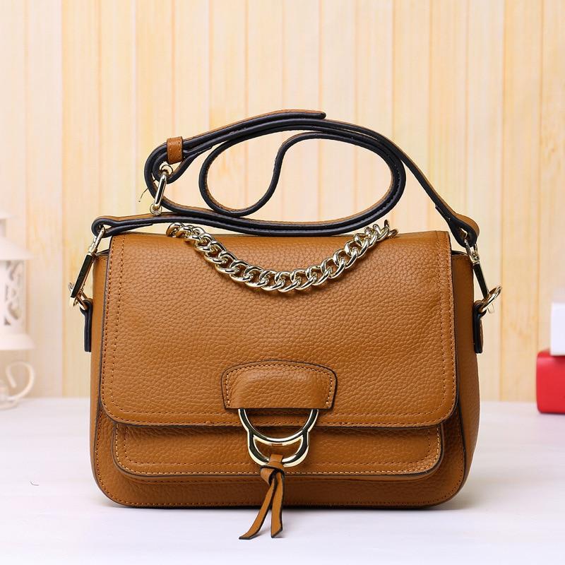 ФОТО 2017 Latest Fashion Genuine leather handbags Retro Shoulder Female Beautiful Small Bag