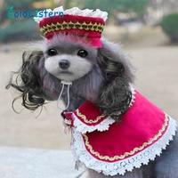 Caps Wig Cloak Set For Dog  Caps Hat Coat Clothes Court Style Princess Costume Accessory Headwear Caps Goods For pet dog  Puppy