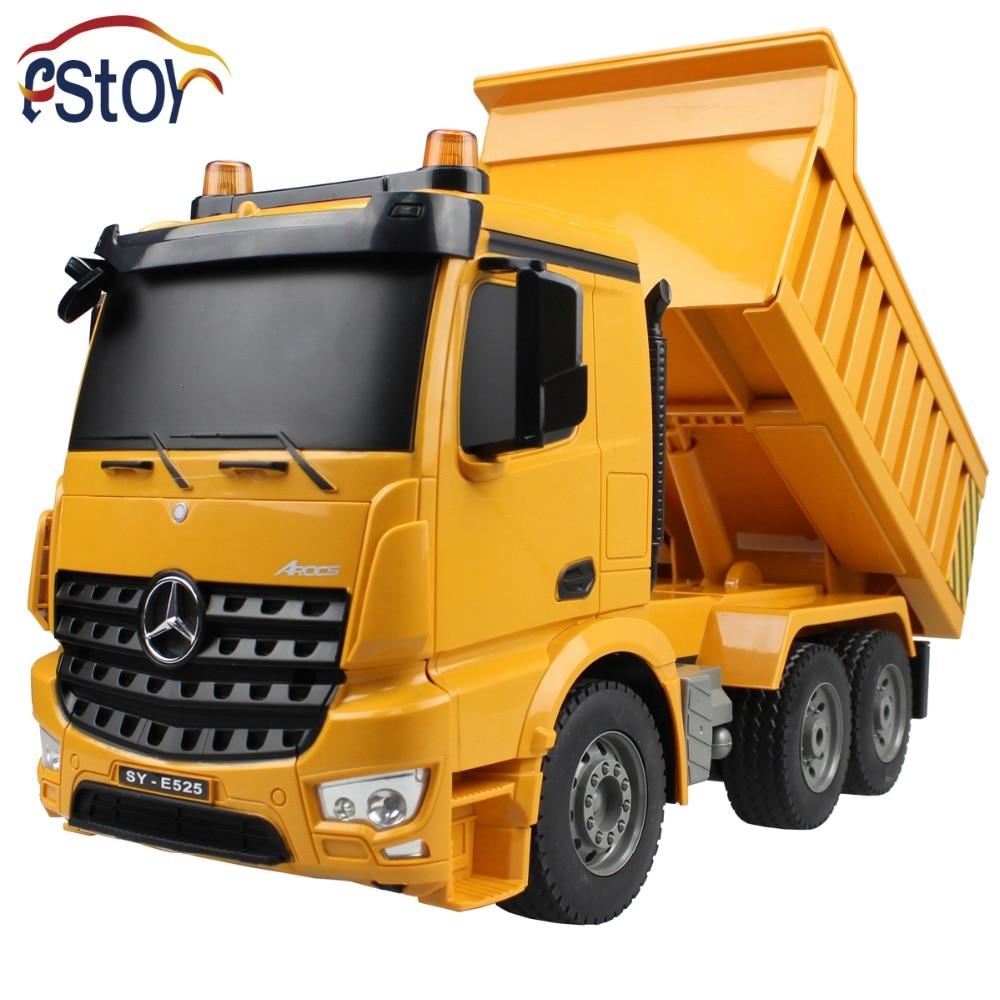 2.4G 6 Channel Simulated Sounds/Four Wheel Drive/Demo Function/ Burglar Alarm Light/Bucket Up&Down/RC Dump Truck