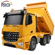 2.4G 6 Channel Simulated Sounds/Four Wheel Drive/Demo Function/ Burglar Alarm Light/Bucket Up&Down/RC Dump Truck