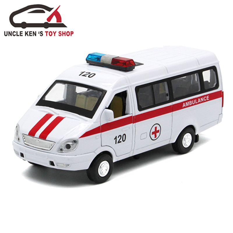 Diecast-Russian-Ambulance-GAZ-Gazel-Scale-Model-Metal-Car-Toys-For-Boys-Or-Kids-As-Gifts-With-Functions-4