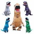 Adulto Traje Inflável Natal Cosplay Animal Dinossauro T-REX Fantasias Macacão Traje de Halloween para As Mulheres Homens