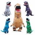 Adultos T-REX Dinosaurio Inflable Traje Cosplay de la Navidad Animal Mono Fantasias Disfraces de Halloween para Las Mujeres de Los Hombres
