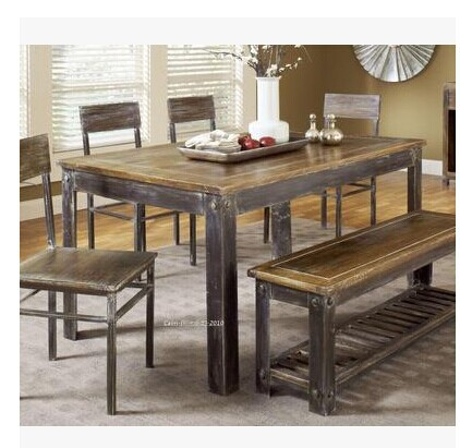Beau French Country Loft Industrial Wind Reconstituted Wood Dining Table Coffee  Table Tea Room Dinette Table Desk