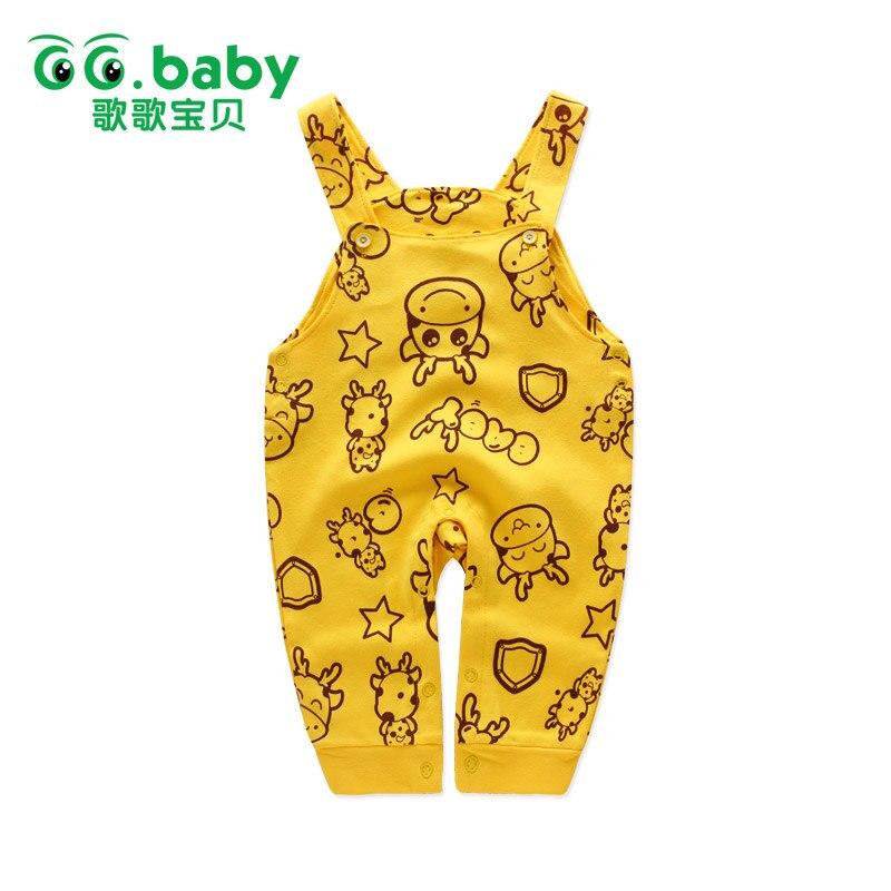 봄 베이비 오버올 베이비 서스펜더 바지 신생아 - 아기 의류