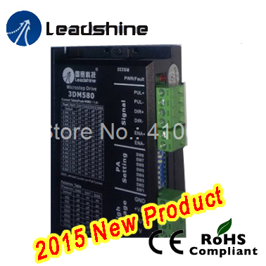 Leadshine 3DM580 32Bit DSP Digital Stepper motor Drive 18~50VDC Input Max 8A Output Current low noise and vibration leadshine stepper motor driver 3dm 683 3 phase digital stepper drive max 60vac 8 3a
