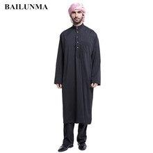 Купить с кэшбэком Arab clothing men Woven Fabric mens islamic clothing muslim caps for men Black BTH805