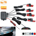 GreenYi LED Display Car Vehicle Reverse Backup Radar System with 4PCS 16MM Flat Parking Sensors 12V for All Cars