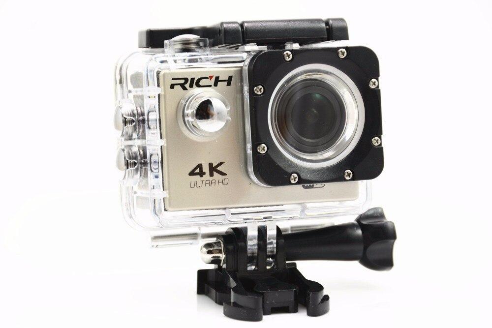 Caméra d'action riche HD WiFi F60C 1080 P 2.0 LCD 170D Len casque caméra sous-marine caméra étanche pro caméscope Sport DVing