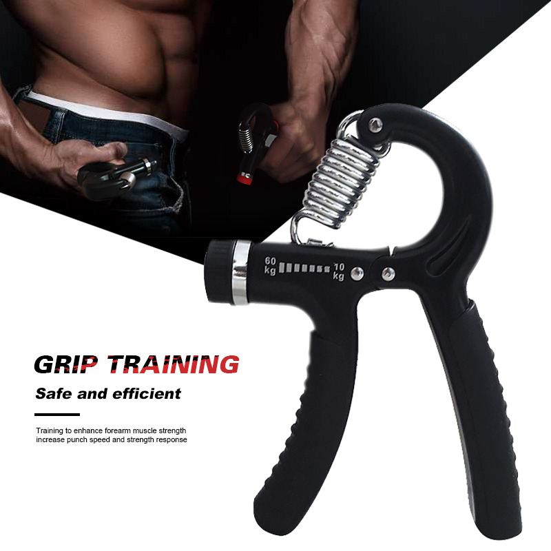A-Type Adjustable Heavy Grips Hand Fitness Gripper Exerciser Wrist Strength Training Hand Gripper Gym Power Carpal Expander Tool цена