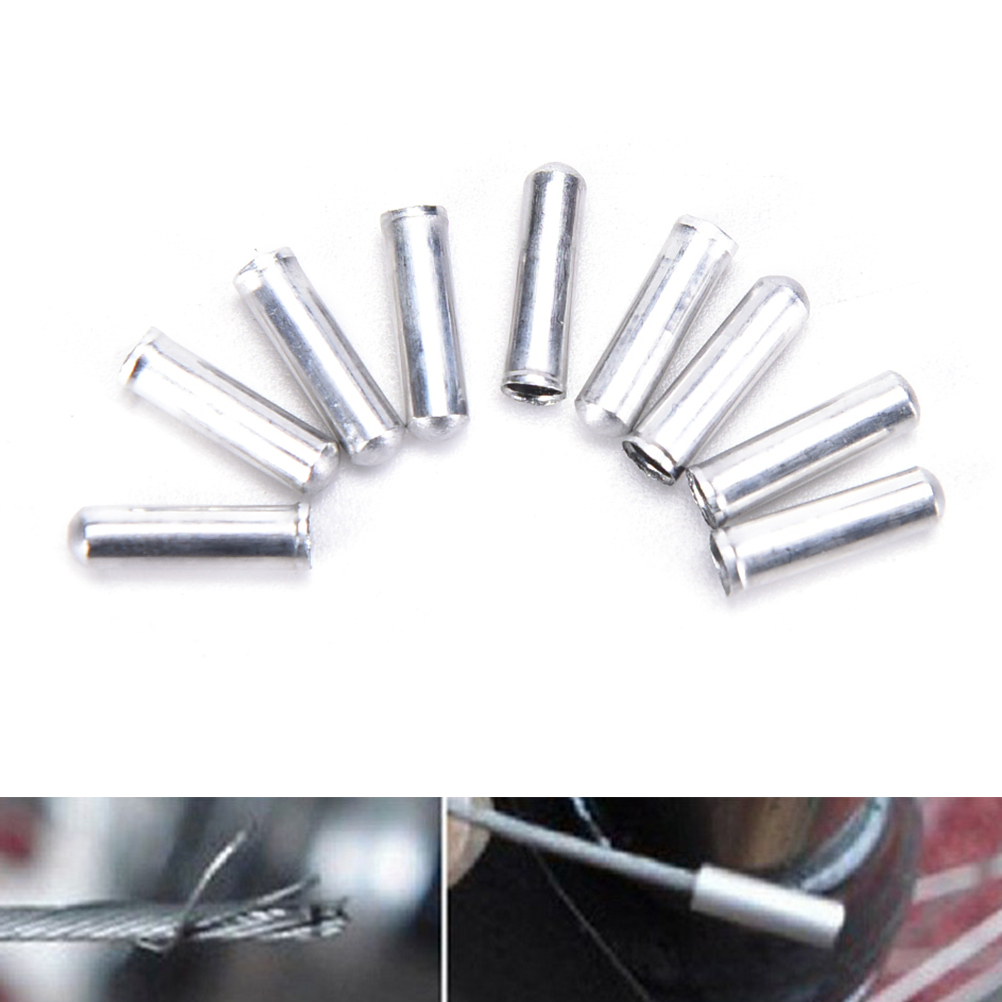 Bike Brake Gear Inner Cable Ferrules Ends Connector Bike Wire Terminal Kit