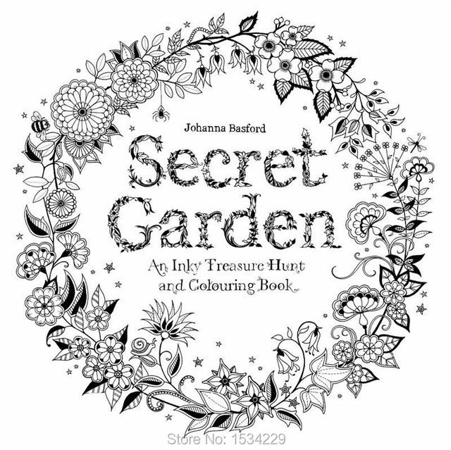 Book Send Via Email Secret Garden An Treasure Hunt And Coloring Children Adult Relieve Stress