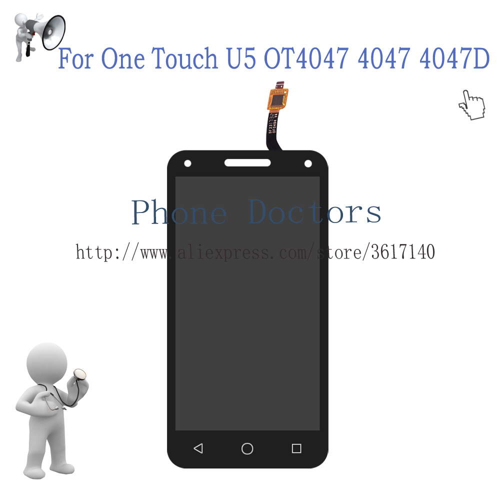 5.0'' Full <font><b>LCD</b></font> DIsplay + Touch Screen Digitizer Assembly For <font><b>Alcatel</b></font> One Touch U5 3G 4047 <font><b>4047D</b></font> Digitizer <font><b>LCD</b></font> 100% Tested image