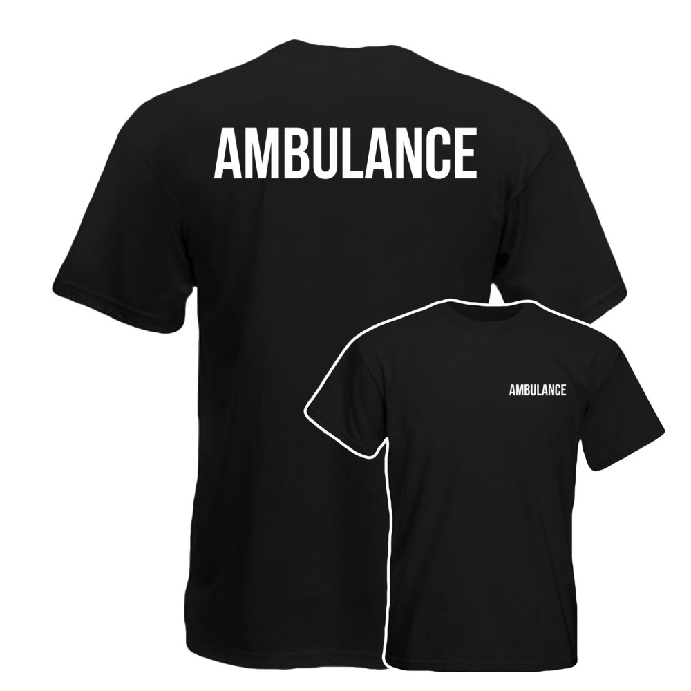 Ambulance T Shirt, Medical Health Care Work Wear 100% Cotton Summer Mens Summer Tops Tees T Shirt Funny Print T Shirts-in T-Shirts from Men's Clothing on AliExpress - 11.11_Double 11_Singles' Day 1