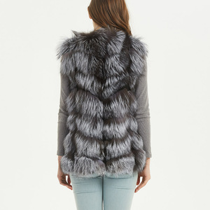 Image 3 - maomaokong real fox fur coat women winter natural fur vest coat natural real fur coat Vests for women   Sleeveless jacket women