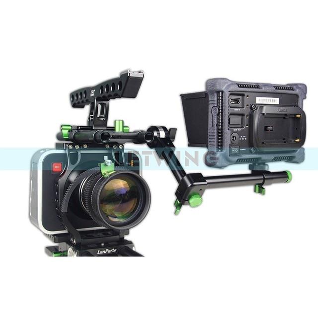 Lanparte Rampart BMCC Basic Version Magic Black Camera Cage Kit BMCC DSLR Rig With Dovetail Baseplate Handle 15mm Rod Magic Arm